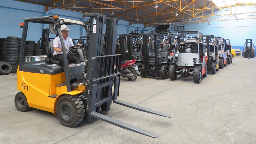 dịch vụ cho thuê xe nâng điện mga forklift