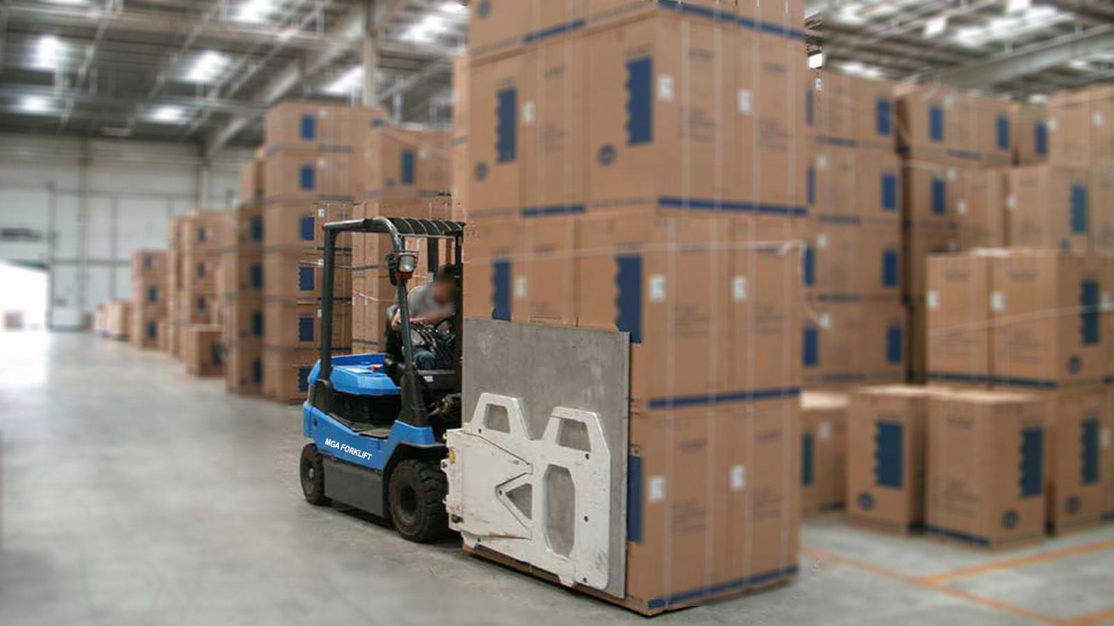 bộ kẹp thùng carton cho xe nâng