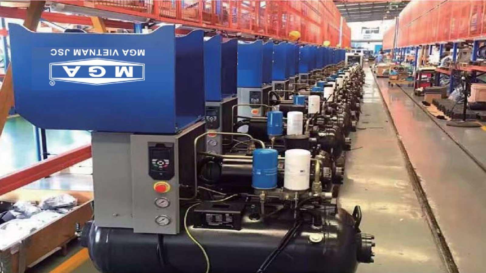 xưởng máy nén khí mga 10HP